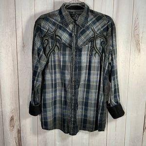 Roar Western Wear Plaid Dorian Shirt